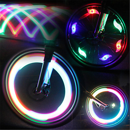 LED Bike Light Valve Cap Flashing Lights Wheel Lights Mountain Bike MTB Bicycle Cycling Waterproof Multiple Modes LED Light Battery Cycling / Bike / IPX-4