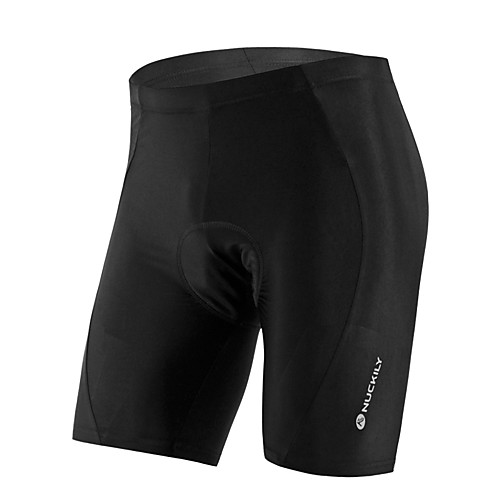 Nuckily Men's Women's Cycling Padded Shorts Bike Shorts Jersey Pants Breathable Anatomic Design Ultraviolet Resistant Sports Solid Color Elastane Black Mountain Bike MTB Road Bike Cycling Clothing
