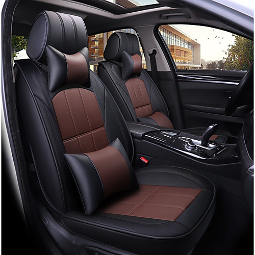 Odeer Car Seat Covers Seat Covers Black Brown Pu Leather Common For Universal All Years All Models 2020 Us 142 99