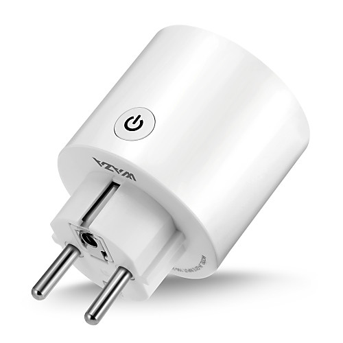 WAZA Smart Plug(EU) Mini Outlet Compatible with Amazon Alexa and Google Assistant, Wifi Enabled Remote Control Smart Socket with Timer Function, No Hub Required