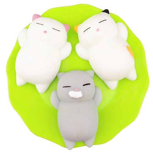 LT.Squishies Squeeze Toy / Sensory Toy Stress Reliever Cat Office Desk Toys Squishy Decompression Toys for Children's All Boys' Girls'