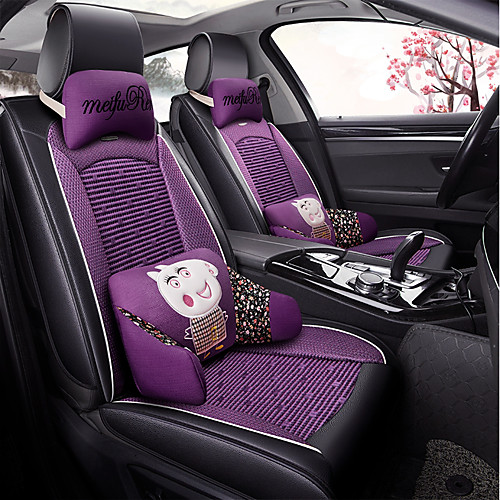 Sensational Odeer Car Seat Cushions Seat Covers Black Purple Textile Artificial Leather Common For Universal All Years All Models Pabps2019 Chair Design Images Pabps2019Com