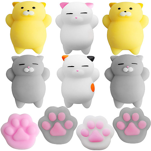 LT.Squishies Squeeze Toy / Sensory Toy Stress Reliever Cat Cat Claw Stress and Anxiety Relief Squishy Decompression Toys Rubber for Children's All Boys' Girls'