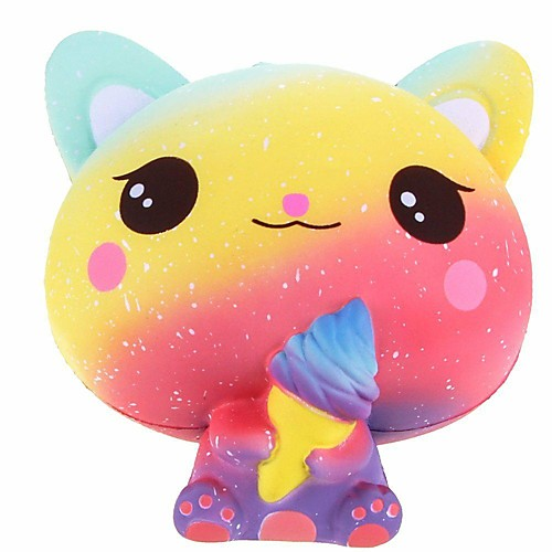Squeeze Toy / Sensory Toy Stress Reliever Cat Creative Cute Stress and Anxiety Relief Squishy Decompression Toys PORON for Kids Adults' All Boys' Girls'