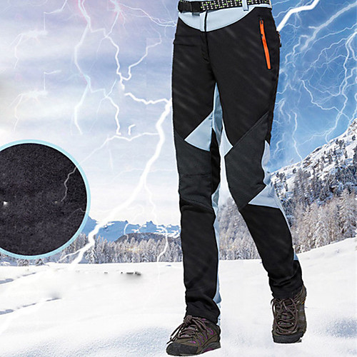 Women's Ski / Snow Pants Skiing Snowboarding Winter Sports Thermal Warm Waterproof Waterproof Zipper 100% Cotton Chenille Polyster Bib Pants Ski Wear