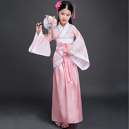 0de56392c Dance Costumes Hanfu Girls' Performance Spandex Split Joint Long Sleeve  Skirts / Top / Waist Accessory 2019 - US $27.99