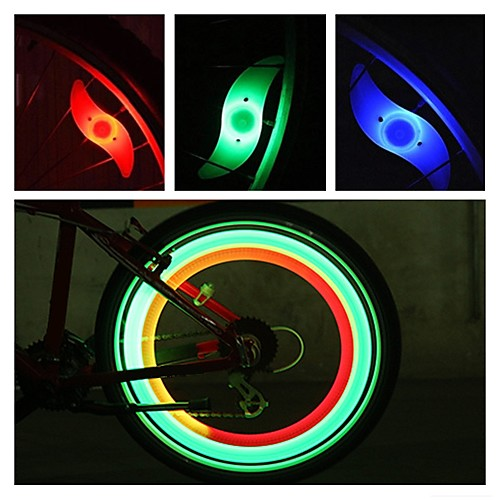 LED Bike Light Safety Light Wheel Lights Bike Spoke Lights Mountain Bike MTB Bicycle Cycling Waterproof Multiple Modes Alarm Backlight CR2032 Battery Cycling / Bike Motocycle / IPX-4