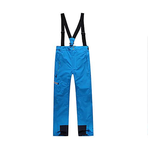 Men's Ski / Snow Pants Skiing Snowboarding Winter Sports Thermal / Warm Waterproof Windproof Terylene Bib Pants Ski Wear