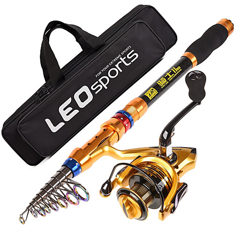 Fishing Rod and Reel Combo Telespin Rod 180/210/240/270/300/360 cm Carbon Telescopic Sea Fishing Spinning