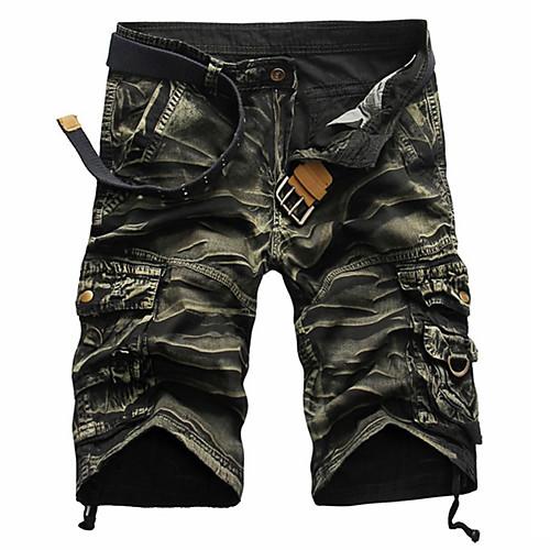 Men's Streetwear Loose Cotton Shorts Tactical Cargo Pants - Striped Camouflage Black Red Army Green US32 / UK32 / EU40 / US34 / UK34 / EU42 / US36 / UK36 / EU44