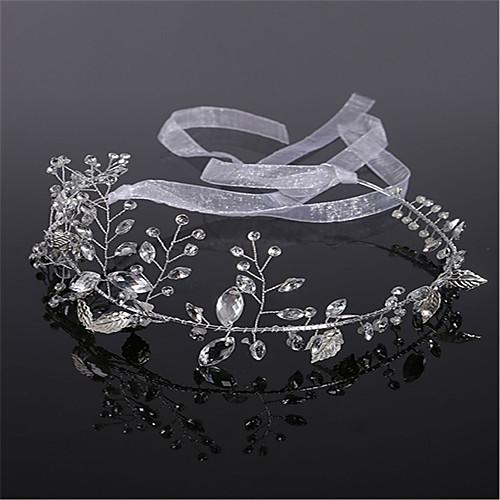 Crystal / Imitation Pearl / Rhinestone Headdress with Rhinestone / Crystal / Imitation Pearl 1 Piece Wedding Headpiece