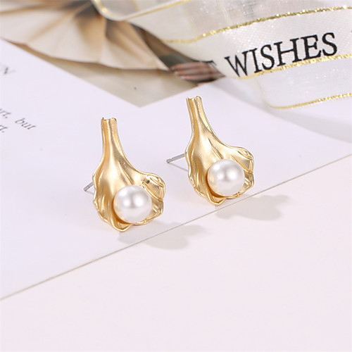 Women's Earrings Holiday Wedding Birthday Romantic Earrings Jewelry Gold For Date Street Festival 1 Pair