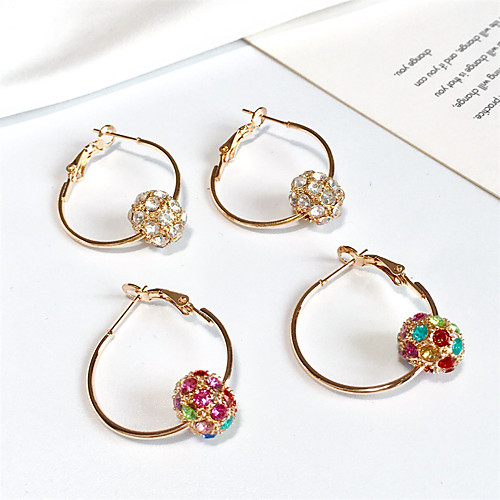 Women's Earrings Holiday Wedding Birthday Romantic Earrings Jewelry Red / White For Date Street Festival 1 Pair