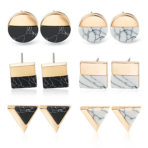 Women's Earrings Holiday Wedding Birthday Romantic Earrings Jewelry Rose Gold / Gold / White For Date Street Festival 1 Pair