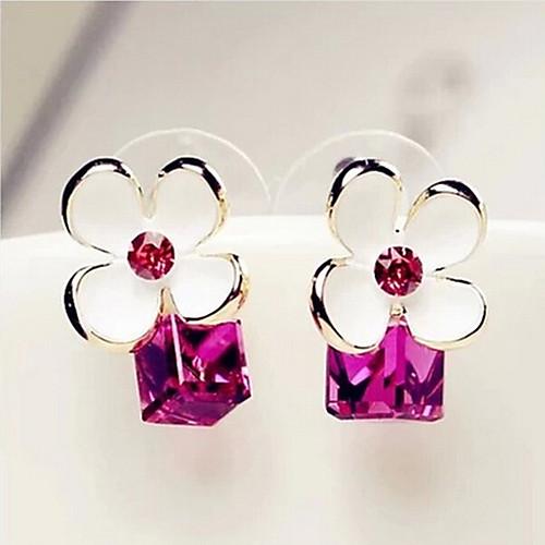 Women's Earrings Holiday Wedding Birthday Romantic Earrings Jewelry Blue / White For Date Street Festival 1 Pair