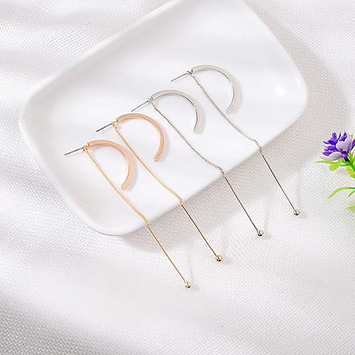 Women's Earrings Holiday Wedding Birthday Romantic Earrings Jewelry Gold / Silver For Date Street Festival 1 Pair