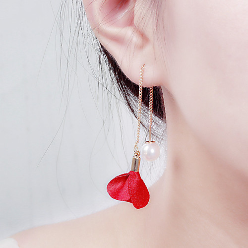Women's Earrings Holiday Wedding Birthday Romantic Earrings Jewelry Purple / Blushing Pink / Red For Date Street Festival 1 Pair