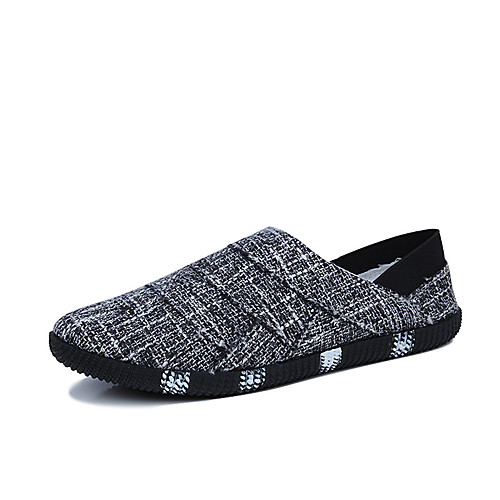 Men's Spring & Summer / Fall & Winter Classic / British Daily Outdoor Loafers & Slip-Ons Walking Shoes Canvas Breathable Wear Proof Black / Beige / Light Blue