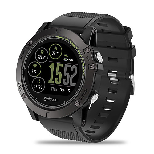 Zeblaze VIBE3 HR Unisex Smartwatch Android iOS Bluetooth Waterproof GPS Heart Rate Monitor Blood Pressure Measurement Calories Burned ECGPPG Timer Pedometer Sedentary Reminder Temperature Display
