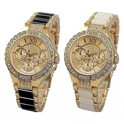 Women's Quartz Watches Fashion Silver Alloy Chinese Quartz Black Gold Adorable 1 pc Analog One Year Battery Life