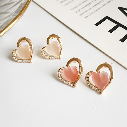 Women's Earrings Holiday Wedding Birthday Romantic Earrings Jewelry Blushing Pink / White For Date Street Festival 1 Pair