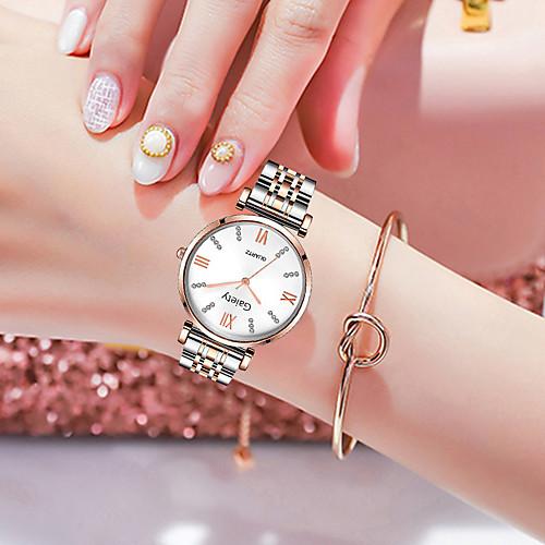 Women's Quartz Watches Fashion Silver Rose Gold Alloy Chinese Quartz Rose Gold WhiteGolden White Adorable 1 pc Analog One Year Battery Life