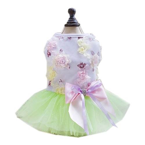 Cat Dog Dress Tuxedo Puppy Clothes Stars Fashion Wedding Dog Clothes Puppy Clothes Dog Outfits Blue Pink Green Costume for Girl and Boy Dog Chiffon Cotton XS S M L XL