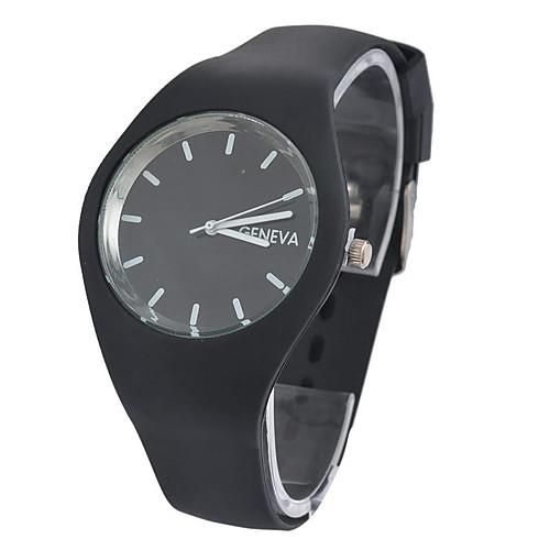 Women's Quartz Watches Fashion Black Blue Purple Silicone Chinese Quartz White Black Blue Casual Watch Analog One Year Battery Life