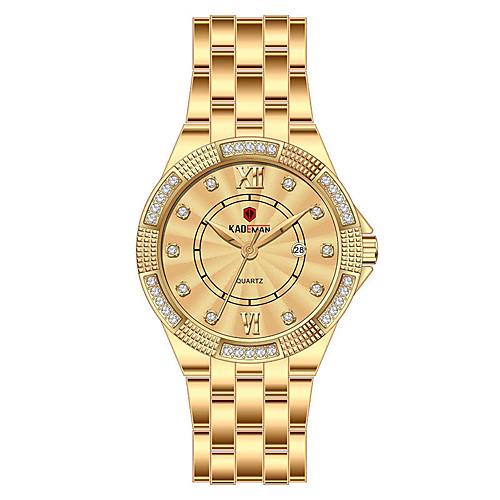 Women's Quartz Watches Elegant Fashion Stainless Steel Quartz Rose Gold GoldenSilver Black Water Resistant / Waterproof Calendar / date / day Analog