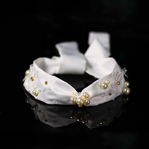 Crystal / Imitation Pearl / Fabrics Headbands with Pearl / Imitation Pearl / Crystal / Rhinestone 1 Piece Wedding Headpiece