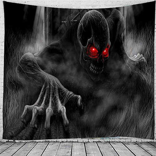 Halloween Party Holiday Wall Tapestry Art Decor Blanket Curtain Picnic Tablecloth Hanging Home Bedroom Living Room Dorm Decoration Psychedelic Zombie Polyester