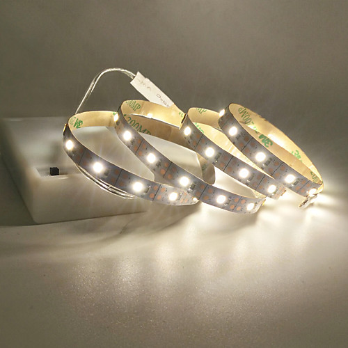 1m 2m 3m 4m 5m LED Light Strips USB Interface or AA Battery Box Power Supply Flexible 2835 SMD Per Meter 60 LEDs 8mm Warm White Cold White 5V LED Light Strip
