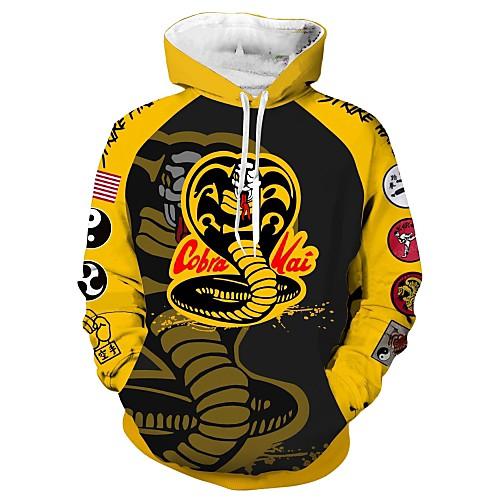 Inspired by Cobra Kai the Karate Kid Cobra Kai Cosplay Costume Hoodie Terylene Print Printing Hoodie For Men's / Women's, lightinthebox  - buy with discount