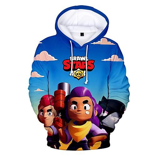brawl stars men's hoodie royalblue l