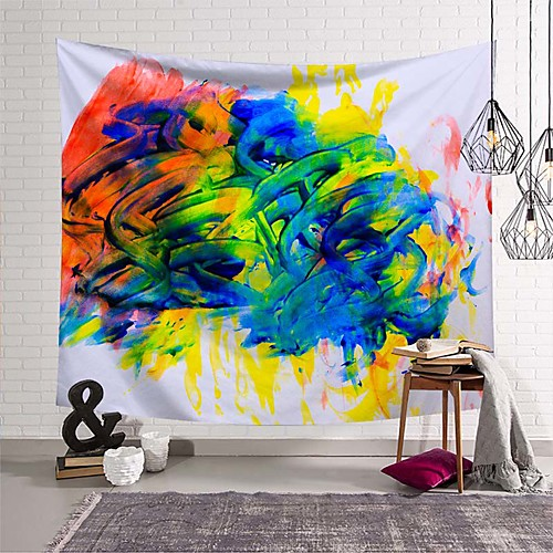 Wall Tapestry Art Deco Blanket Curtain Picnic Table Cloth Hanging Home Bedroom Living Room Dormitory Decoration Polyester Fiber Novelty Modern Oil Painting Color Paint