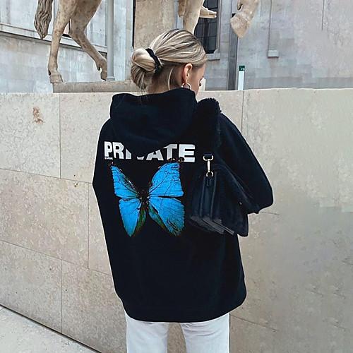 lightinthebox / Damen Übergrössen Alltag Pullover Hoodie Sweatshirt Solide Freizeit Grundlegend Kapuzenpullover Sweatshirts Lose Blau