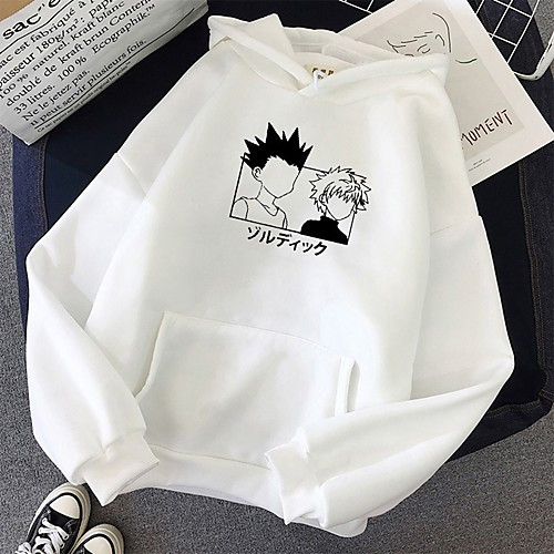 Inspired by Hunter X Hunter Killua Zoldyck Cosplay Costume Hoodie Polyester / Cotton Blend Graphic Printing Harajuku Graphic Hoodie For Women's / Men's