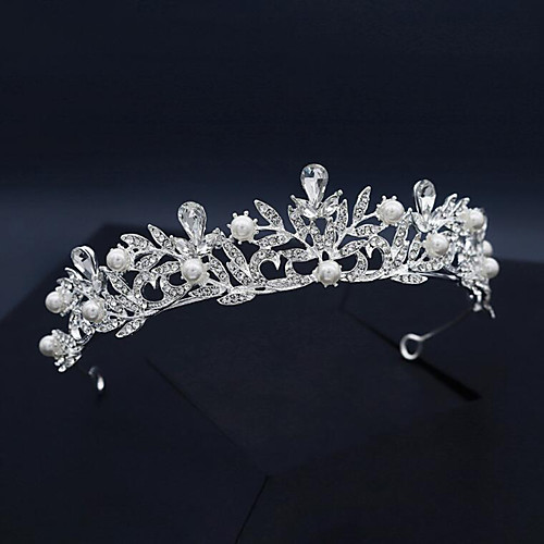 Headband Vintage Imitation Pearl / Rhinestone / Alloy Tiaras / Headbands with Imitation Pearl / Crystal / Rhinestone / Split Joint 1 Piece Wedding / Party / Evening Headpiece