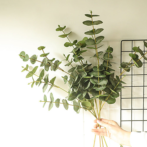 1 Piece Artificial Plants Leaves Home Decor Simulation Eucalyptus Leaves Wedding Party Display,Decor for Home, Living Room, Bathroom Plant