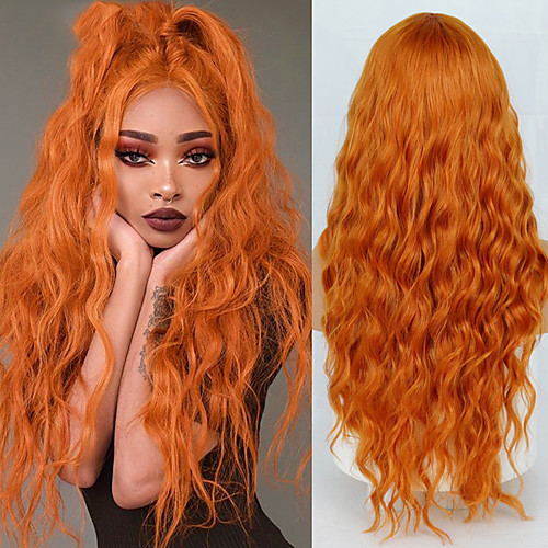 Long deep Wave Wig Middle Natural High Temperature Synthetic Role-Playing fashion Wig Suitable for Women