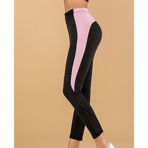 Women's Sports Leggings Sweatpants Pants Plain Full Length Black