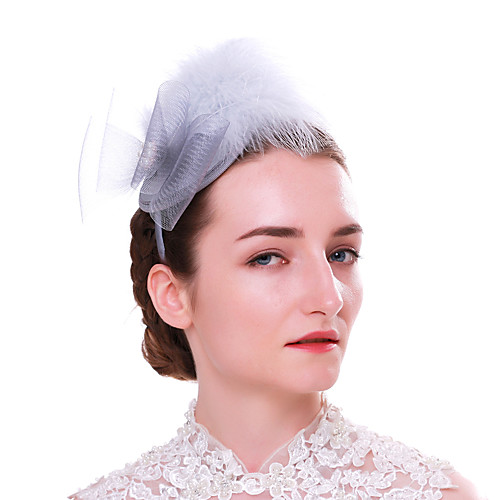 Elegant Retro Feathers Fascinators with Feather / Bowknot 1 Piece Special Occasion / Party / Evening Headpiece