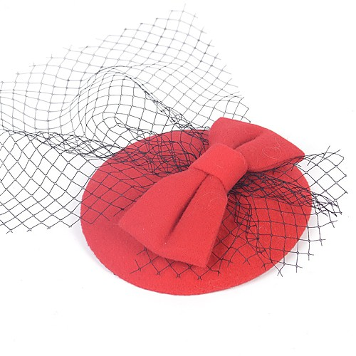 1920s Retro Net Fascinators with Bowknot 1 Piece Special Occasion / Party / Evening Headpiece
