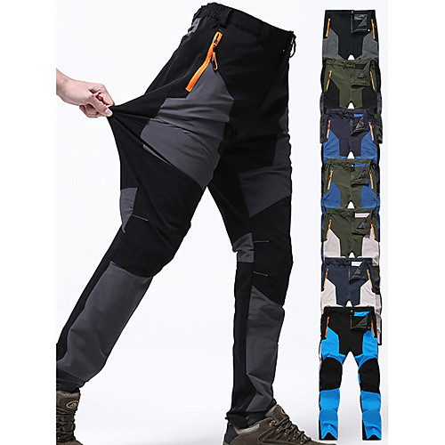 Men's Hiking Pants Trousers Patchwork Outdoor Waterproof Windproof Breathable Quick Dry Spandex Pants / Trousers Bottoms Green / Black Khaki green Army Green Blue Grey Camping / Hiking Hunting Fishing