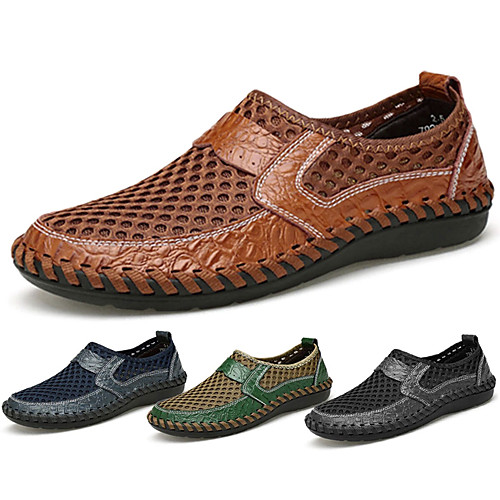 Menico Breathable Mesh Loafers Mens Daily Comfort Shoes Black Blue Green Summer, lightinthebox  - buy with discount