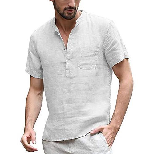 coofandy men's henley shirt short sleeve hippie casual beach t shirts with pocket