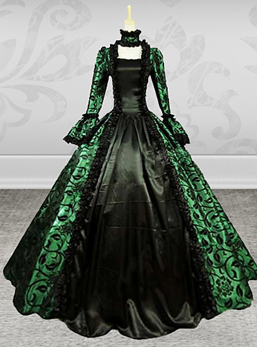 Victorian Medieval 18th Century Costume Women\'s Dress Party Costume ...