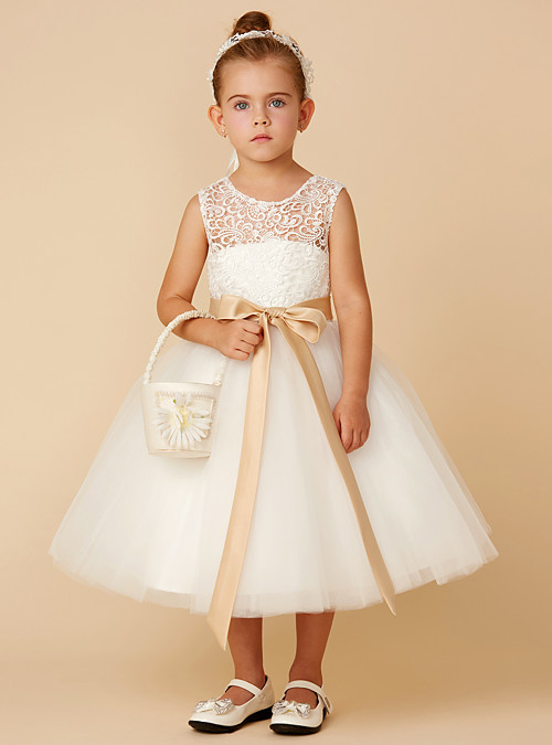 b7676b8efcb 您的浏览器不支持 HTML5 video 标签。 group. ask for a question. Princess Tea Length  Flower Girl Dress - Lace   Tulle Sleeveless Jewel Neck ...
