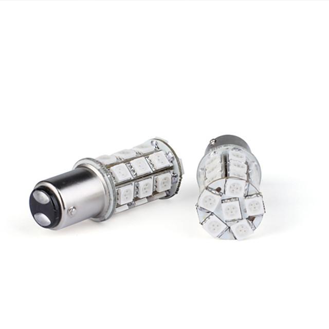 2 pièces 27 a conduit les ampoules 5050 tour / freins rouge (lumière constante / stroboscope)