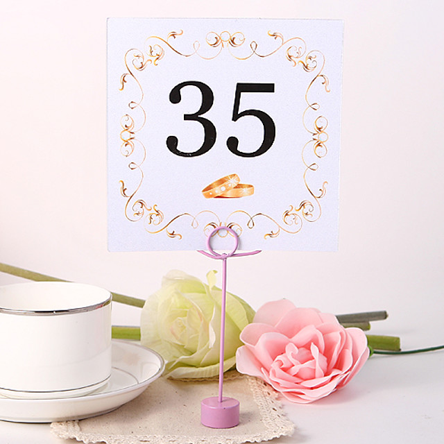 Place Cards and Holders Square Table Number Card - Ring